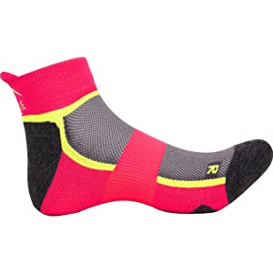 More Mile San Diego Womens Running Socks Pink Cushioned Sole Sports Trainer Sock