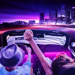 car interior led lights suitable for trip, car party, family trip, birthday