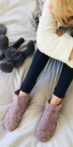 kids wool slipper socks indoor house slippers pure sheep wool boy and girl soft sole