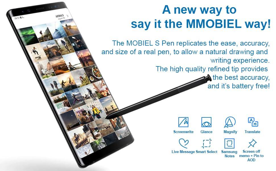 MMOBIEL Stylus S Repuesto Pluma (sin Bluetooth) Compatible con Samsung Galaxy Note 9 N960 Series (Cobre Metálico): Amazon.es: Electrónica