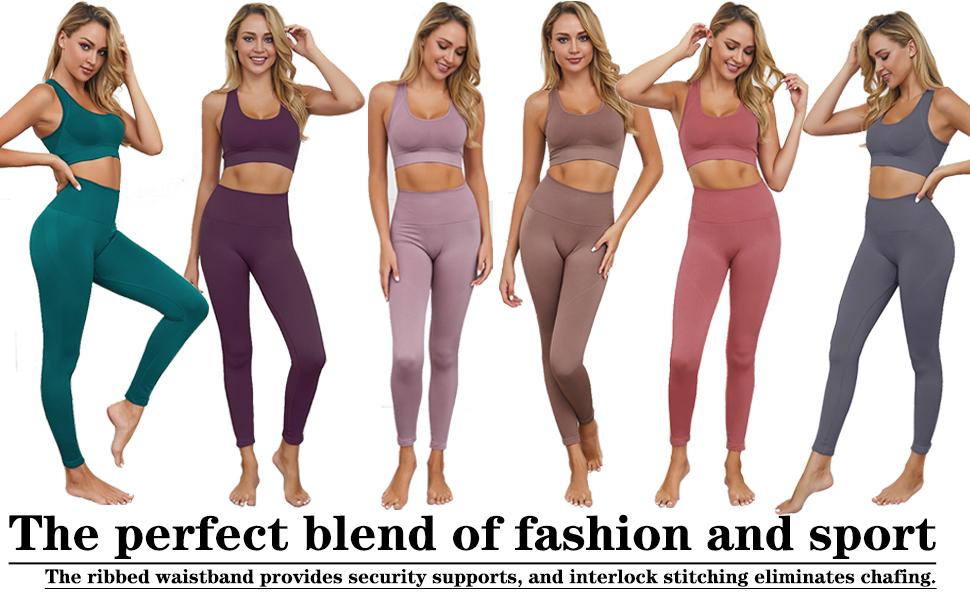yoga pants and bras