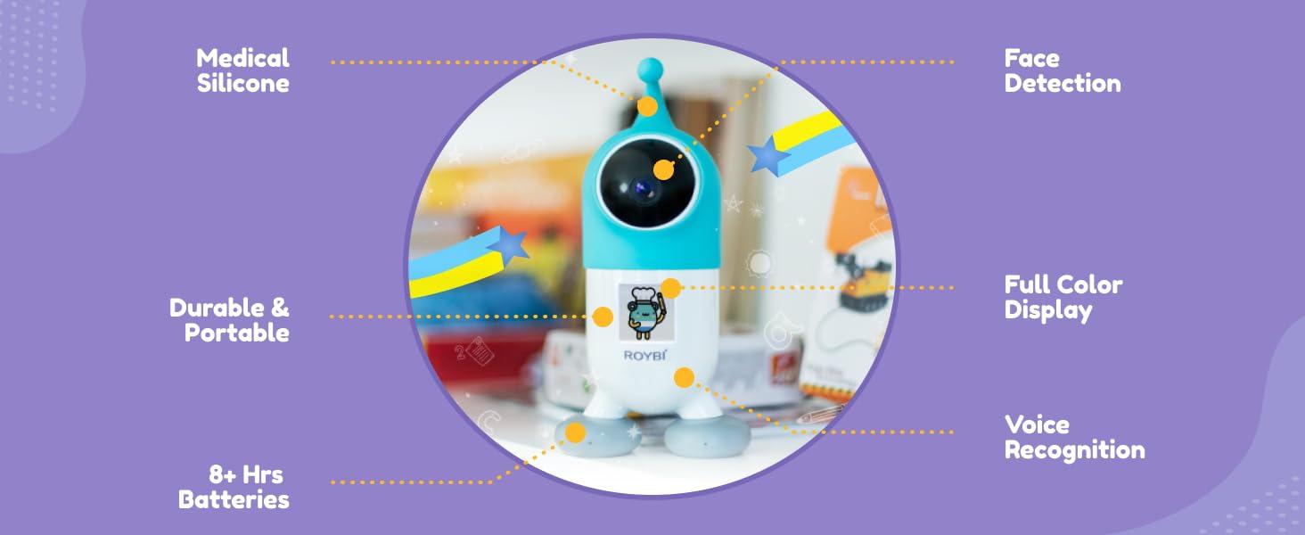 Roybi Robot for kids in language learning & STEM toy for boys & girls