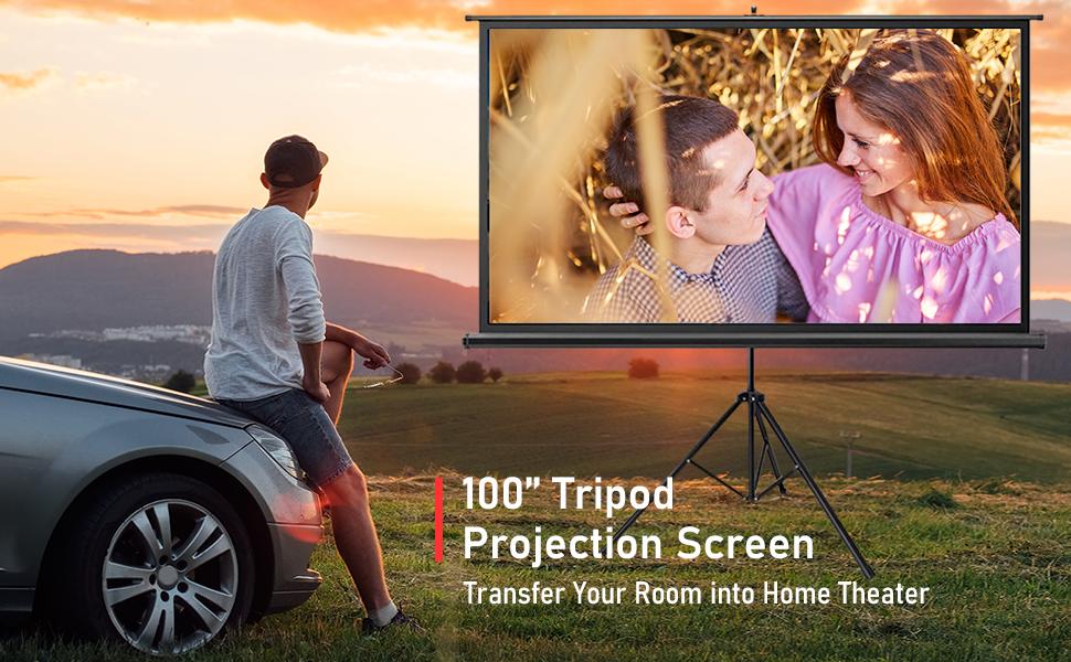 tripod screen 100 inch