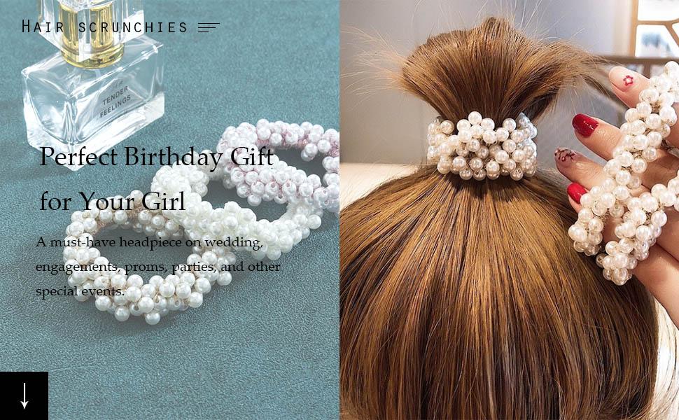 Hair bands Hair rope Hair ties Hair ring with pearl