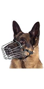 wire dog muzzle metal basket  german shepherd steel basket large