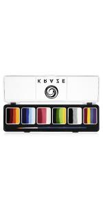 Kraze FX face paint split cake palette 6 colors