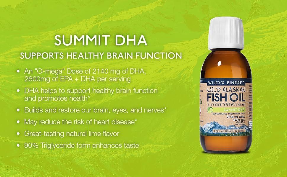 Wileys finest summit Liquid Fish Oil dha