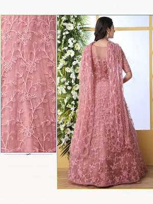 embroidery gown for women