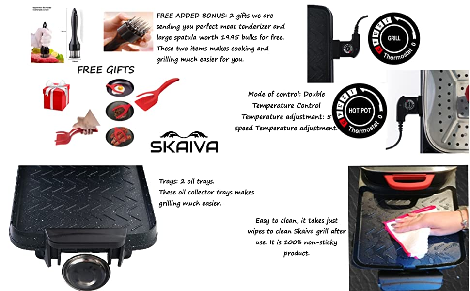 SKAIVA ELECTRIC INDOOR GRILL
