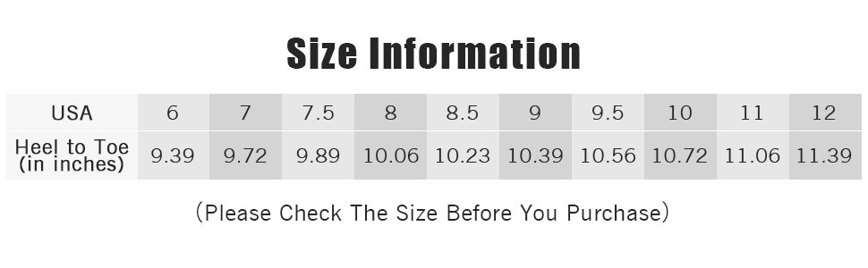 size infor