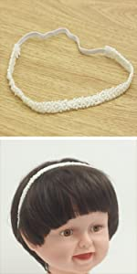 baptism white headband pearl hair band christening white headbands for baby girl