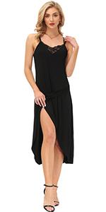 Lace Trim Cami Full Slip Dress