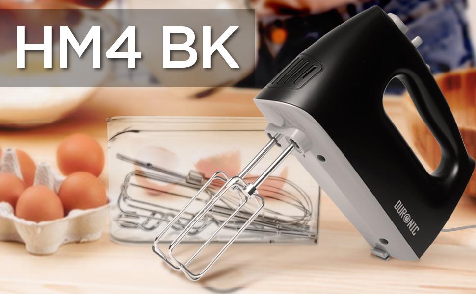 hm4, hm4BK, hand, mixer, handmixer, eggs, baking, bowl, kitchen, handle, ergonomic, beaters, whisk