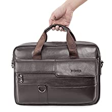 BAGZY Genuine Leather Laptop Bag