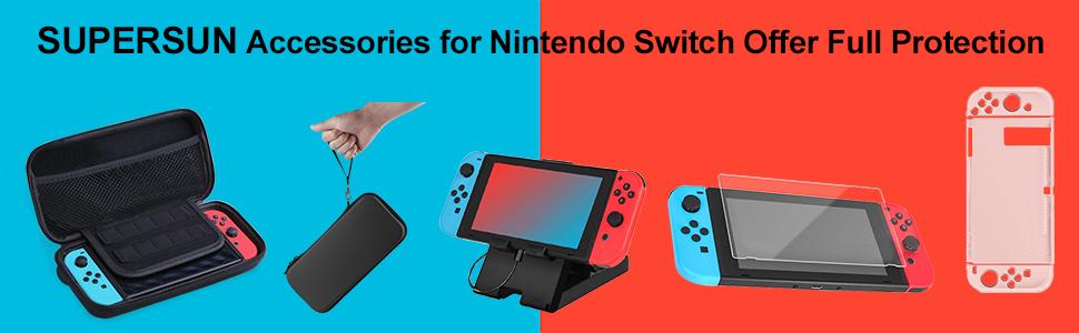 16 en 1 Kit de Accesorios para Nintendo Switch, Funda para ...