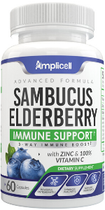 immune support vitamins black elderberry capsules sambucus nigra organic natural wellness formula