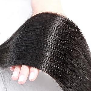 Brazilian Straight Hair 3 Bundles With Closure