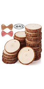 Fuyit 5-6cm 30pcs wood slice