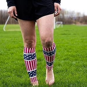 Hocsocx USA Flag Leg Sleeves