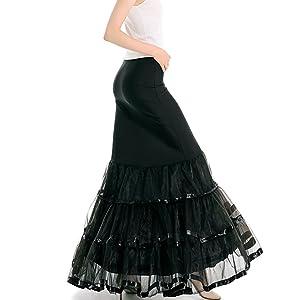 organza gown fishtail petticoat for mermaid dress