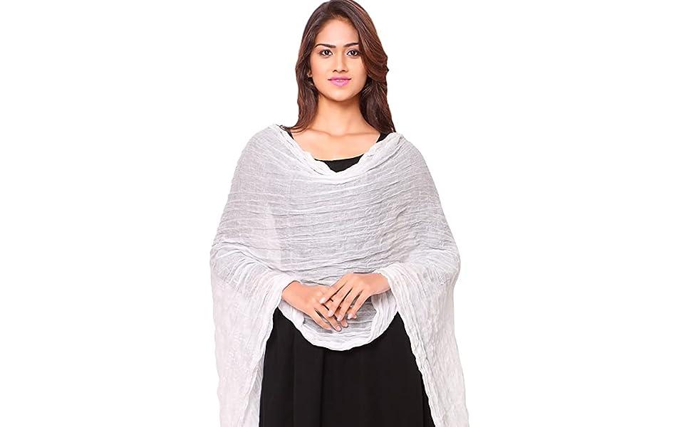 cotton dupatta for women ethnic wear under stole scarf kurti neck face cover multicolour shawl