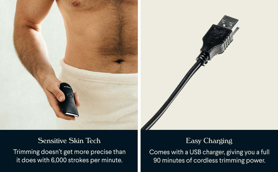 easy charging, sensitive skin touch