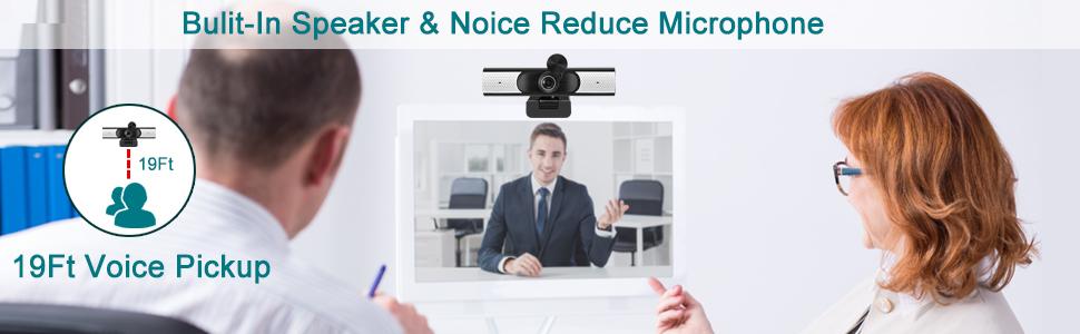 webcam with speaker