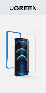 UGREEN 2 Pack Screen Protector for iPhone 12/12 Pro 6.1 Inch