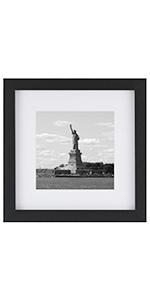 14x14 Inch Picture Frame, Black, 1PCS