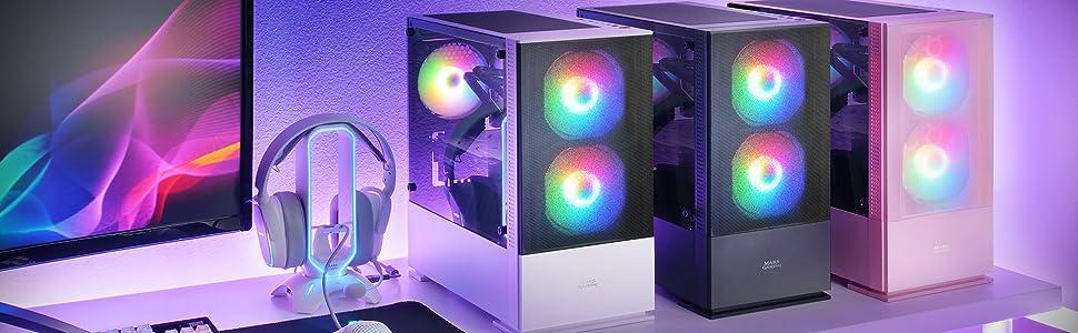 Mars Gaming Mczw Premium Kompakt Pc Gehäuse Microatx Computer Zubehör