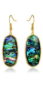 dangle earrings,drop earrings,abalone earrings,women earrings ,earrings for women,hook earrings