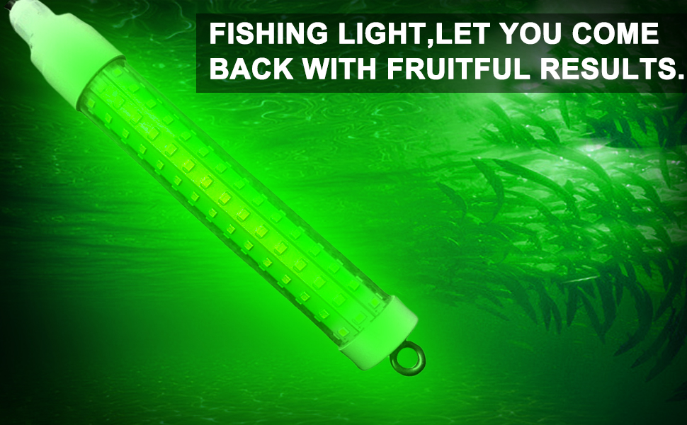 Lowtide Green Underwater Submersible Night Fishing Light Boat Dock Car US Plug