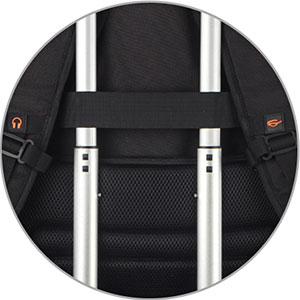 Open freely 90-180 degree making you quickly through the airport security.A good laptop backpack