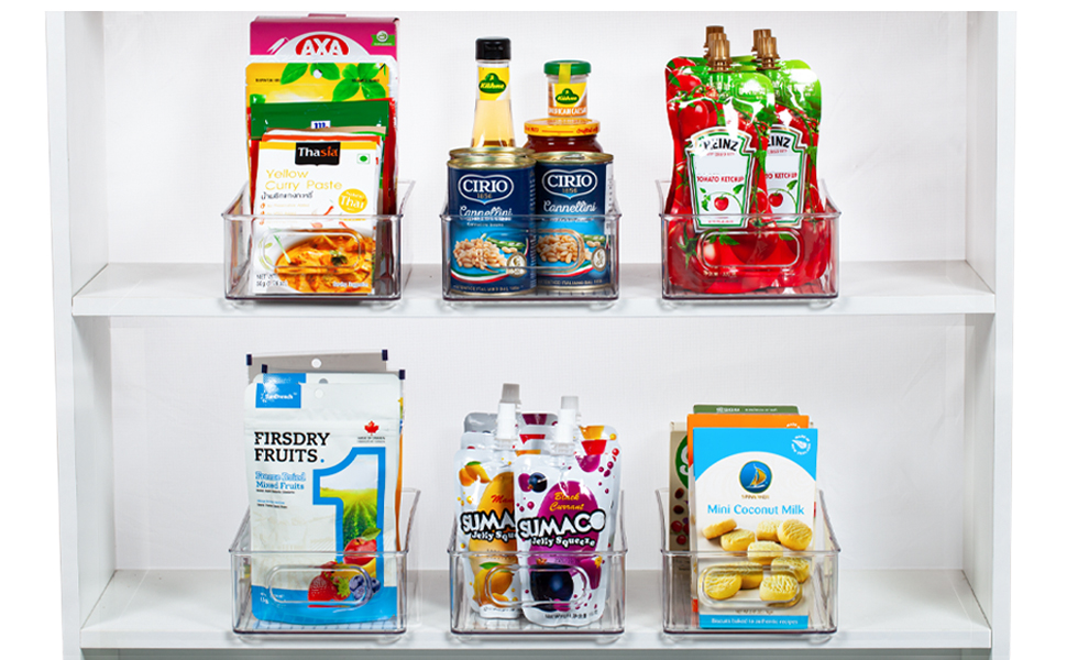 clear pantry bins