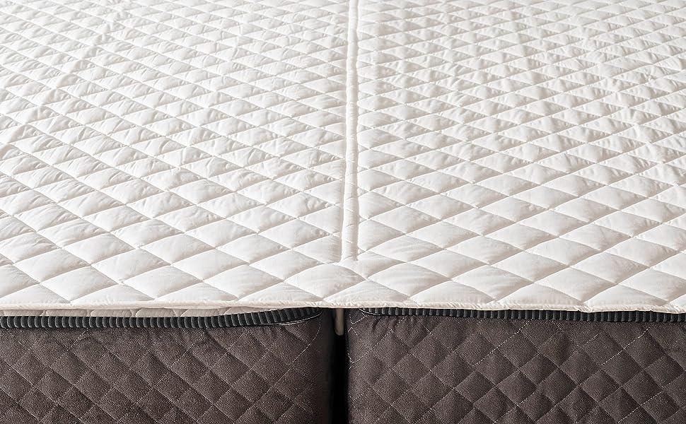 bed bridge with mattress topper