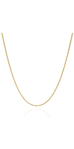 Jewelry Atelier Gold Filled Round Wheat/Palm Chain Necklace