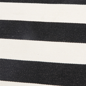 Printed Black & White Strip Area Rug Machine Washable Woven Fabric Porch Outdoor Rug
