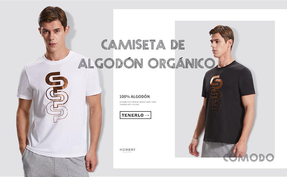 Extreme Pop Camisetas de Manga Corta para Hombre Camiseta de algodón biologico con Estampado Dorado Marca UK: Amazon.es: Ropa y accesorios