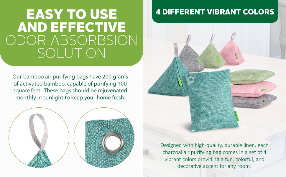 activated bamboo charcoal, activated charcoal bags natural air purifier, charcoal air freshener