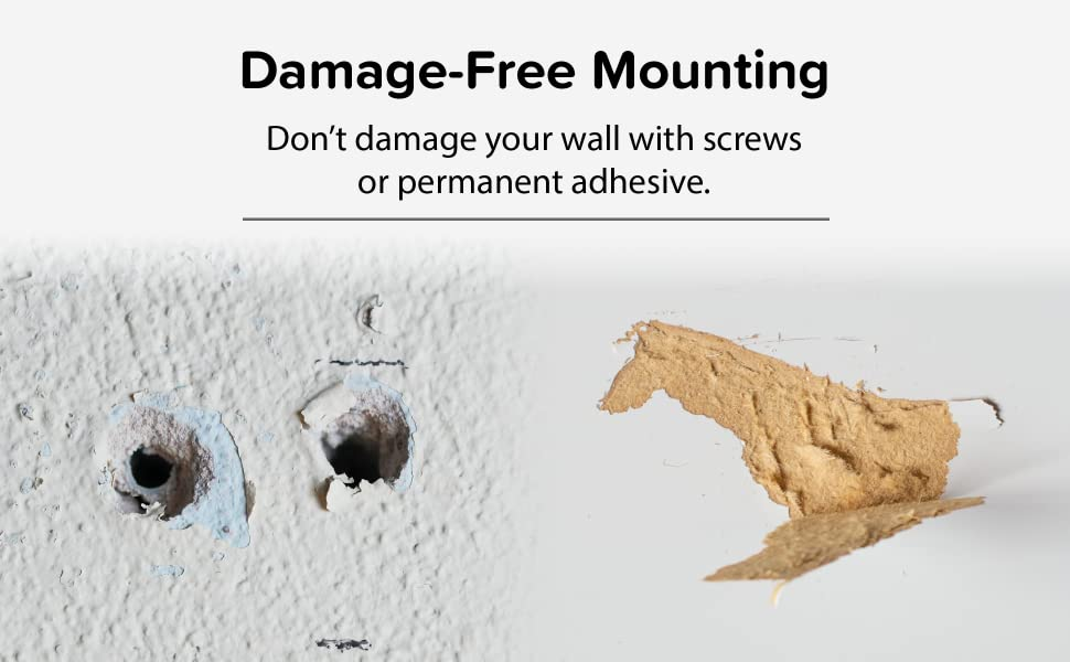 TotalMount for Headphones – Will Not Damage Your Wall with Screws or Permanent Adhesive