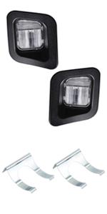 dodge ram license plate light cover lens