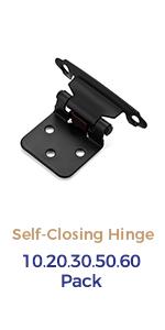 Overlay Cabinet Hinges Black Hinges Face Mount Cabinet Door Hardware Self-Closing Cabinet Hinges