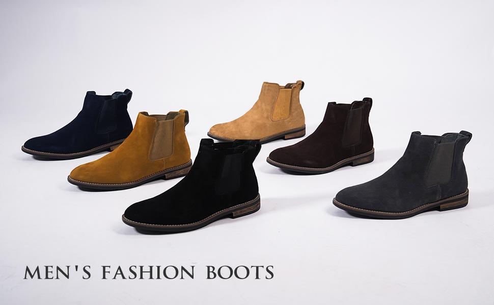 Détails sur BRUNO MARC Hommes Urban en Cuir et Daim Chelsea Chukka Robe Bottines Chaussures De Loisirs afficher le titre d'origine