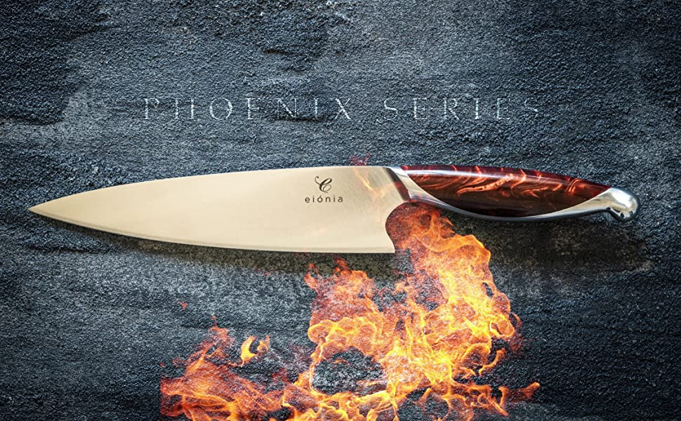 eionia 8 inch chef knife phoenix series sharp stainless steel corrosion resistant