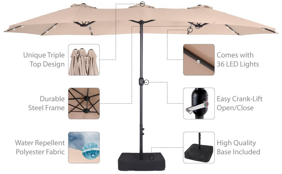 patio umbrella beige