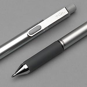 Needle Point 0.5 mm TUL Retractable Gel Pens Silver Barrel Assorted Bright