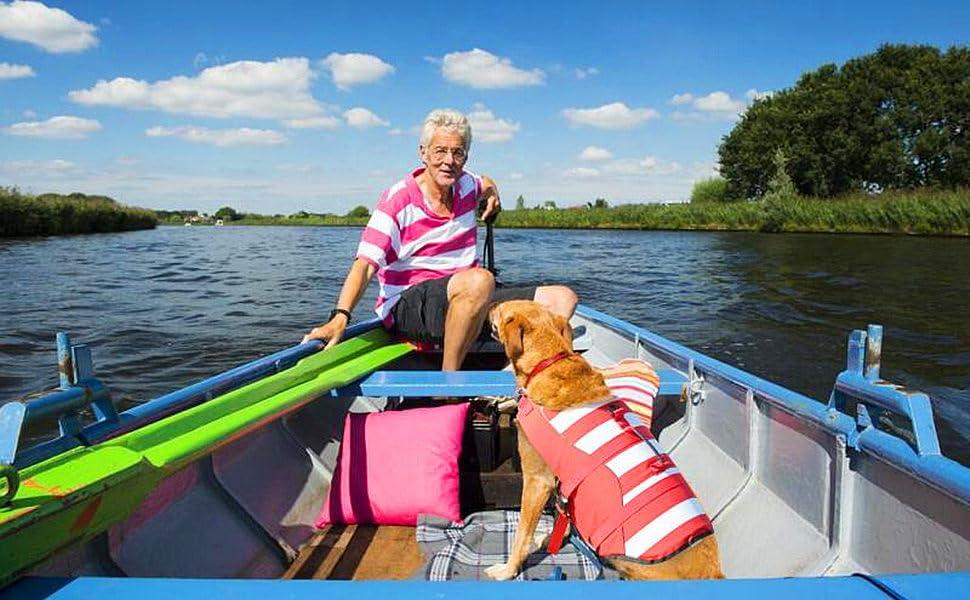 Dog life jacket boating