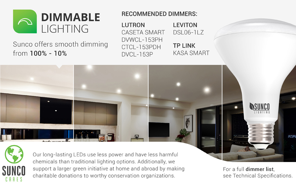 BR30 LED Bulb, 11W=65W, 850 LM, E26 Base, Dimmable, Indoor Flood Light for Cans
