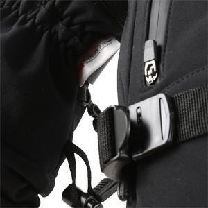 Adjustable buckle wrist strap with drawstring closure