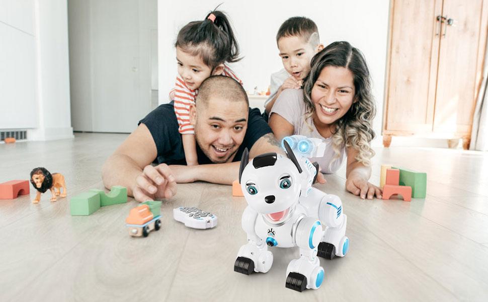 SGILE Robot Dog ,RC Dog Toy Interactive Intelligent Walk Sing Dance Programmable Robot Gift for Kids